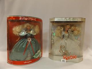 1992  1995 Holiday Barbies in box  2