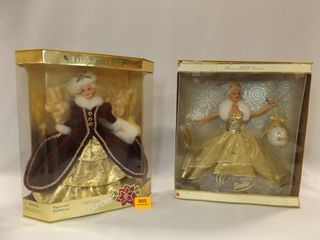 1996  2000 Holiday Barbies in box  2