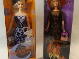 2000  2002 Halloween Barbies in box  2