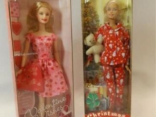 2001  2003 Valentine  Christmas Barbies