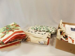 Christmas   Holiday linens  Variety