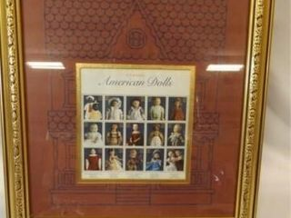 Stamps  American Dolls  framed