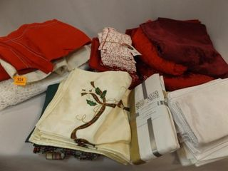 Holiday linens   Tablecloths  Napkins
