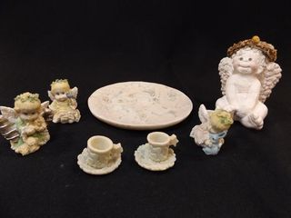 Angel Tea Set  Figurine