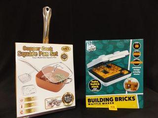 Waffle Maker  Copper Cook Pan Set