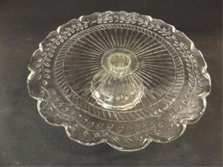 Glass Cake Platter on Pedestal  12