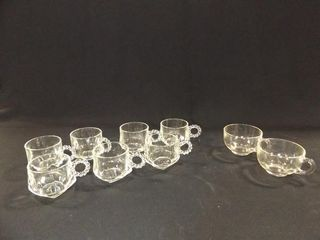Glass Cups   for snack trays   2 styles  9