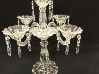 Glass Candleholder  likely crystal