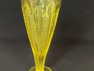 Yellow Glass Vase  8
