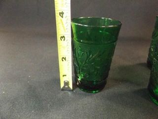 Green Glass Juice Glasses  31 2   6