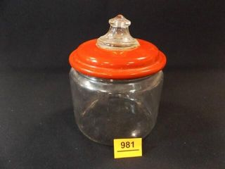 Pyrex Jar with Metal lid
