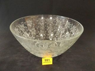 Glass Poinsettia Bowl  5  tall x 101 2