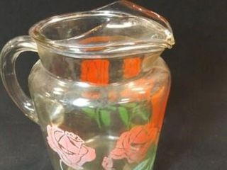 Vintage Glass Pitcher  9