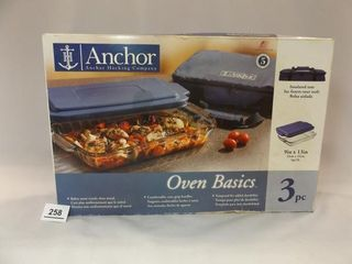 Anchor Oven Basics  3 pc  in box