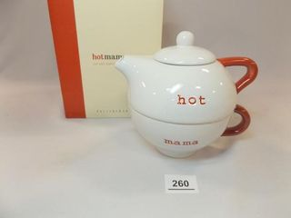 Hot Mama Cup and Teapot Set  in box