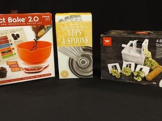 Scale  Odd Size Cups   Spoons  Spiralizer