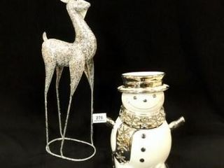 Snowman Candleholder  Deer Decor 24