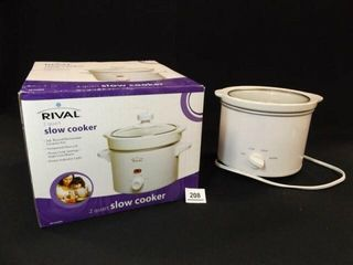 2 Qt Slow Cookers  2    one in box