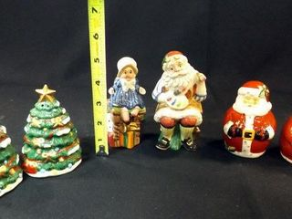 Christmas   Holiday Salt   Pepper  4 Sets