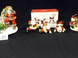 Santa Music Box  Fitz   Floyd Tumblers
