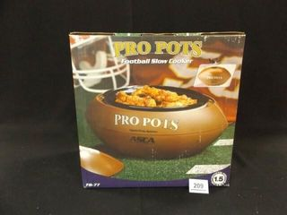 11 2 Qt Football Slow Cooker in box