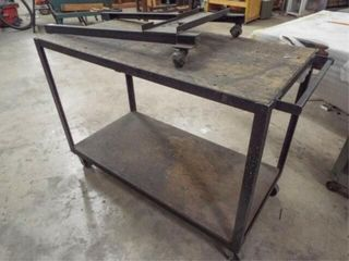 Rolling table and rolling dolly