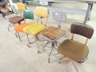 6 assorted chairs