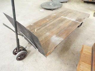 2 wheel wood cart  2 wheel handle