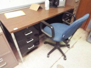 Steel Frame Desk   Formica Top