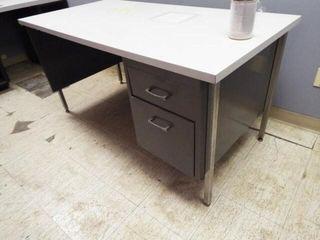 Metal Frame Desk  Formica Top