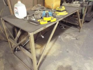 3 HP Chop saw with metal frame table