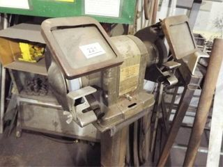Craftsman 1 3 HP 2 wheel Grinder on stand