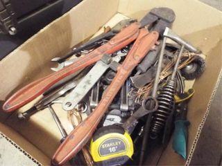 Asst Vise grip  bolt cutter  tape measure  files