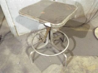 Metal chair with no back