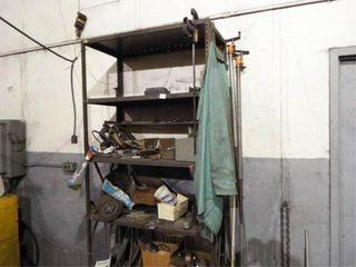 Metal shelf  space heater  metal scraps  wheels