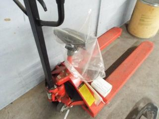 GS Hydraulic pallet jack with scale
