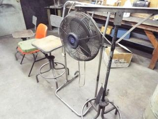 3 Chairs  18  fan with stand  and equipment stand