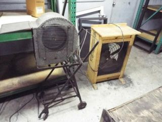 4 Home made box fans and 1 squirrel fans
