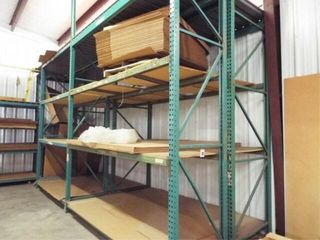 Heavy Duty Shelving system w walkway   ladder