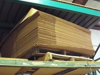 Assortment of Cardboard on lot 265 shelving