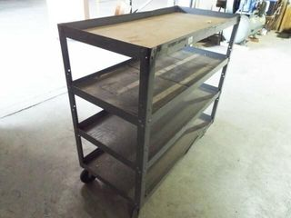 4 Shelf Metal rolling cart