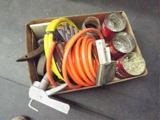 Zip ties  air hoses  steel brush