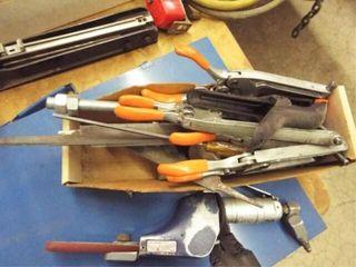 Asst files  air powered portable belt sander