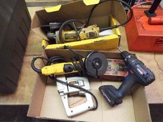 Skil Electric nibbler  2 DeWalt Electric grinders