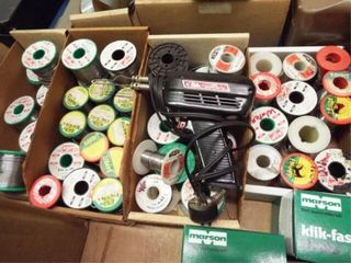 Soldering iron Tool w 4 boxes of rolls of solder