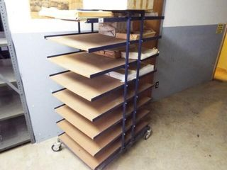 Rolling cart with shelves