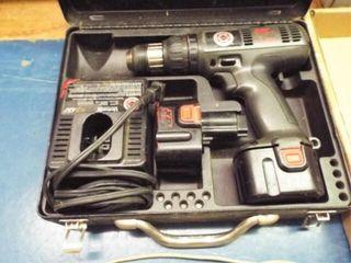 Black  Decker Cordless drill  2 batteries  charger