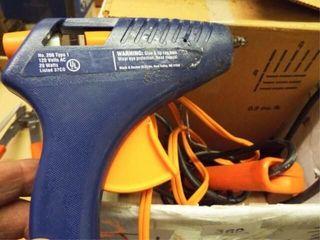2 ea  Electric Glue guns   1 box hot melt adhesive