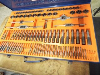 110 Piece tap and die set SAE and Metric