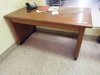 Wooden Desk   Rolling table